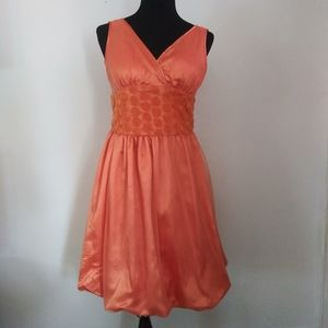 Vintage lace overlay fit and flare dress